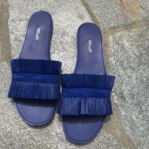Diane Von Furstenberg new blue sandals 9.5
